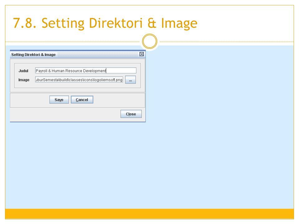 7.8. Setting Direktori & Image