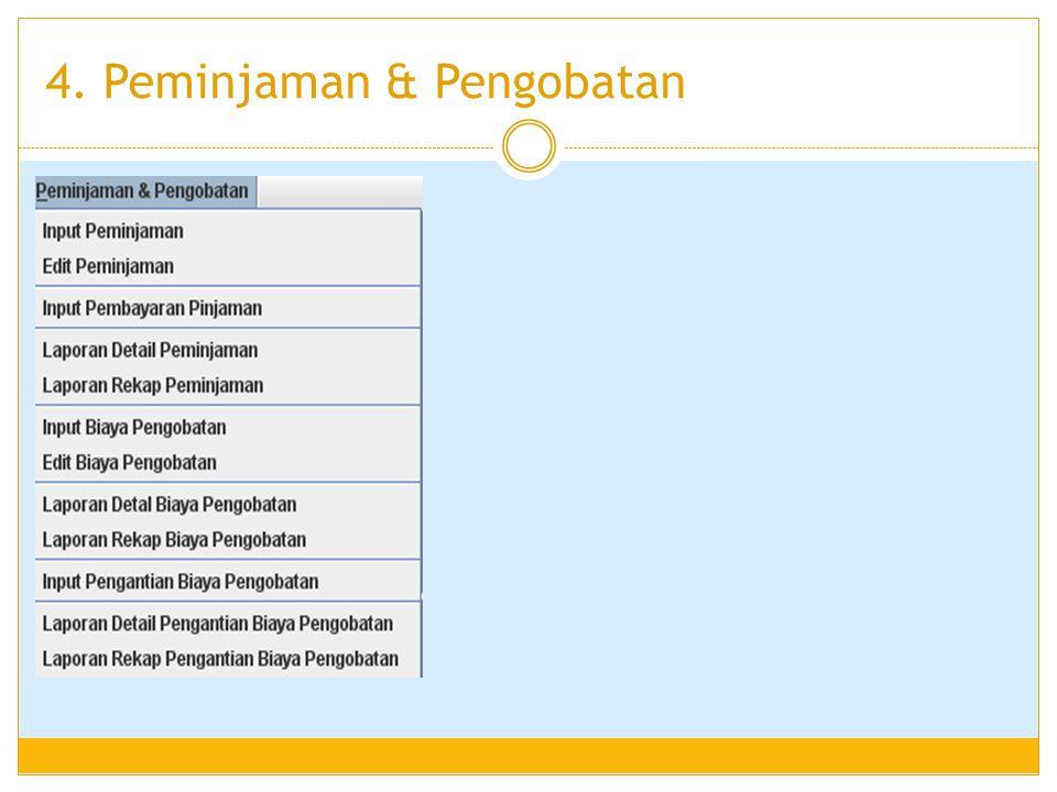 4. Peminjaman & Pengobatan