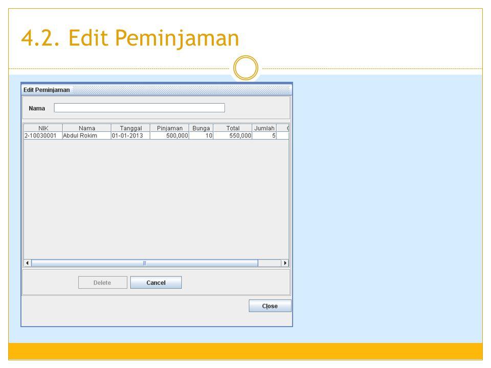 4.2. Edit Peminjaman