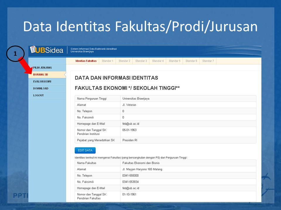Data Identitas Fakultas/Prodi/Jurusan 1