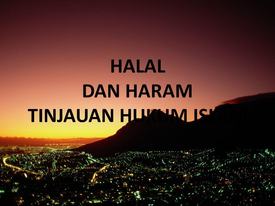 Pengertian Halal dan Haram Halal : sst yg dgnya terurailah buhul yg membahayakan & Allah memperbolehkan dikerjakan.