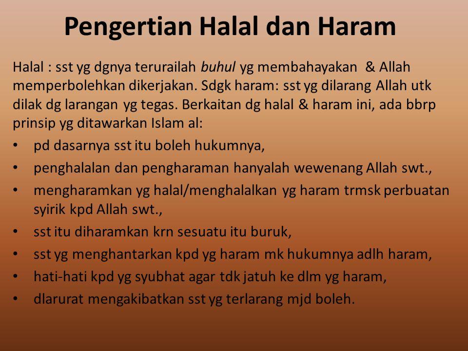 Makanan & Minuman yg Halal & Baik mrt Islam Makan & minum mrp kebutuhan fisik mns agar dpt hidup scr wajar & sehat, tdk boleh berlebih2an.
