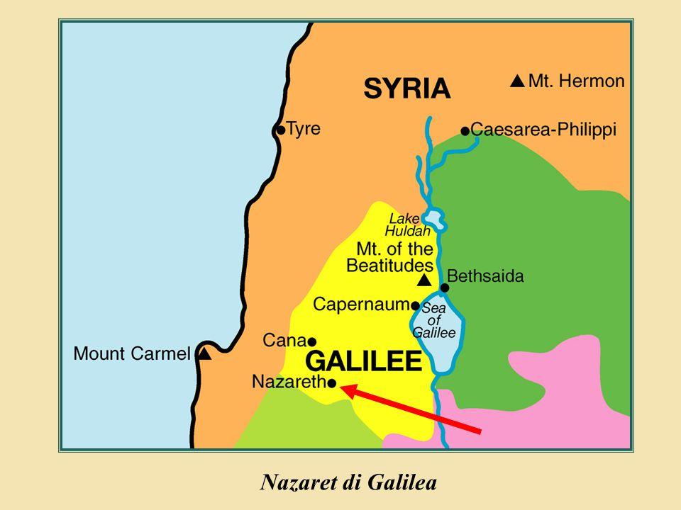 Judea Galilee ChildhoodPereaJerusalem Nazaret di Galilea