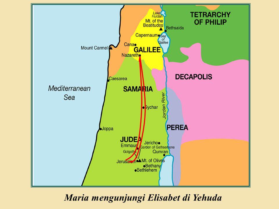 Judea Galilee ChildhoodPereaJerusalem Maria mengunjungi Elisabet di Yehuda