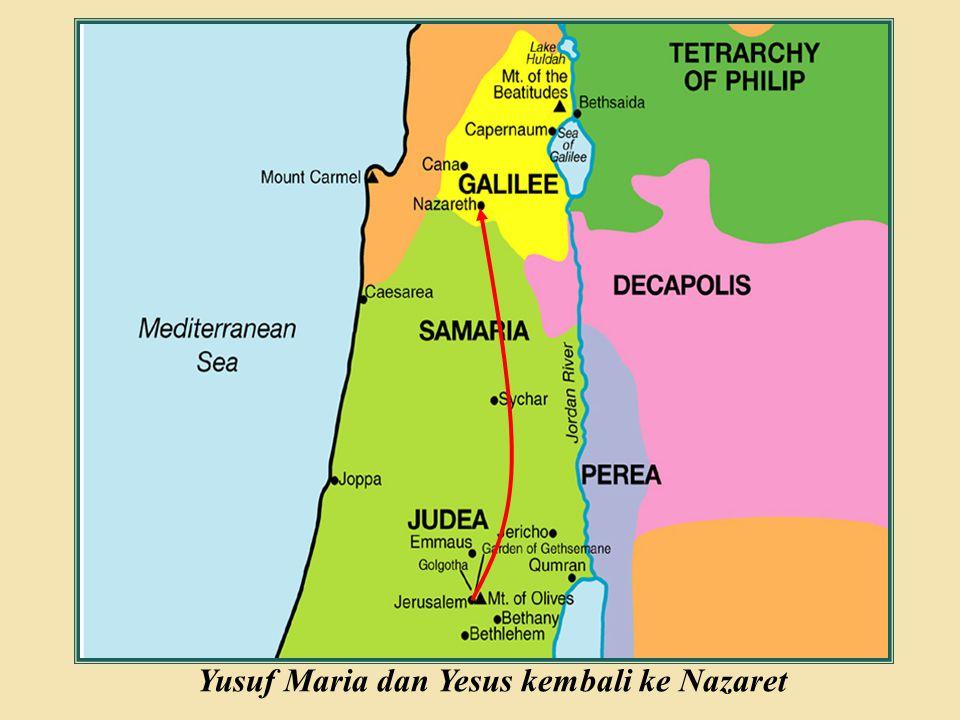 Judea Galilee ChildhoodPereaJerusalem Yusuf Maria dan Yesus kembali ke Nazaret