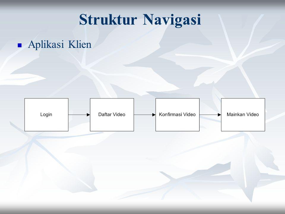 Database FieldTypeKeterangan vidInt(5)Auto increment Judulvarchar(25)Nama video kuncivarchar(25)Kunci enkripsi HargaInt(7)Harga video Tabel video