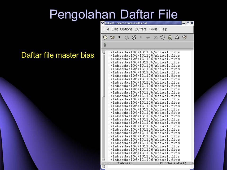 Pengolahan Daftar File Daftar file master bias