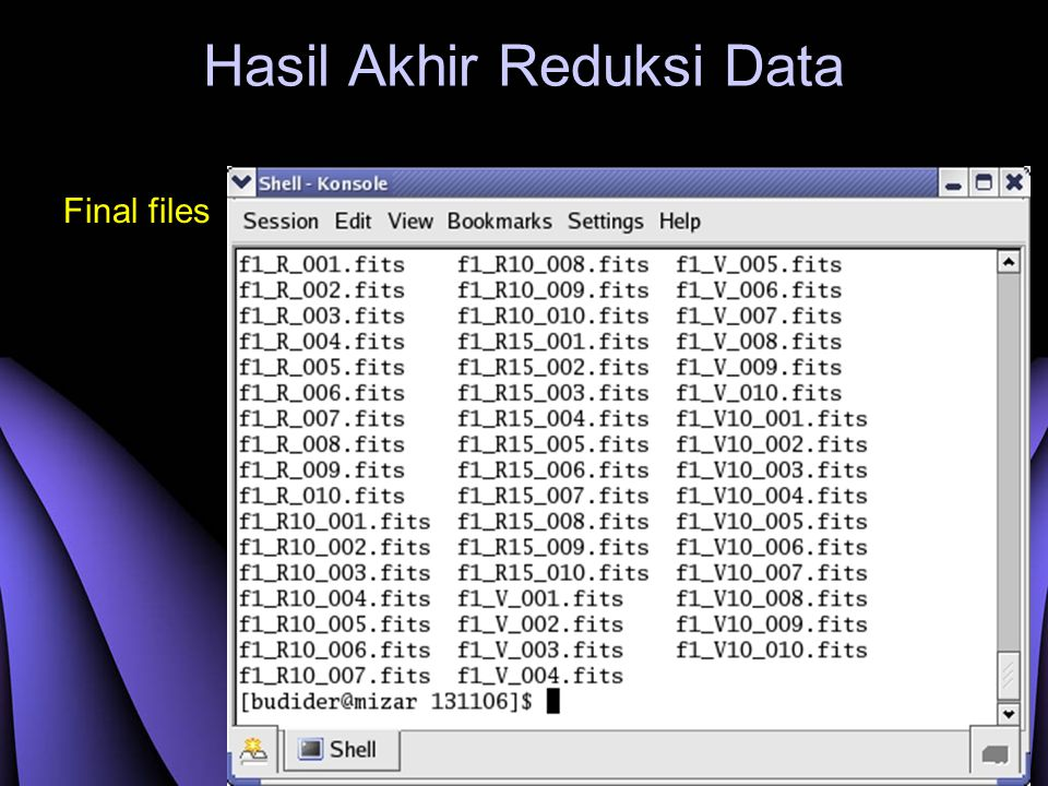 Hasil Akhir Reduksi Data Final files