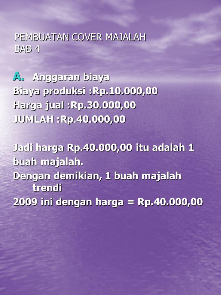 PEMBUATAN COVER MAJALAH BAB 4 A.