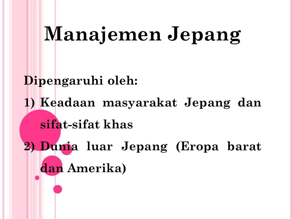 1)Dunia luar Jepang manajemen material dan keuangan.