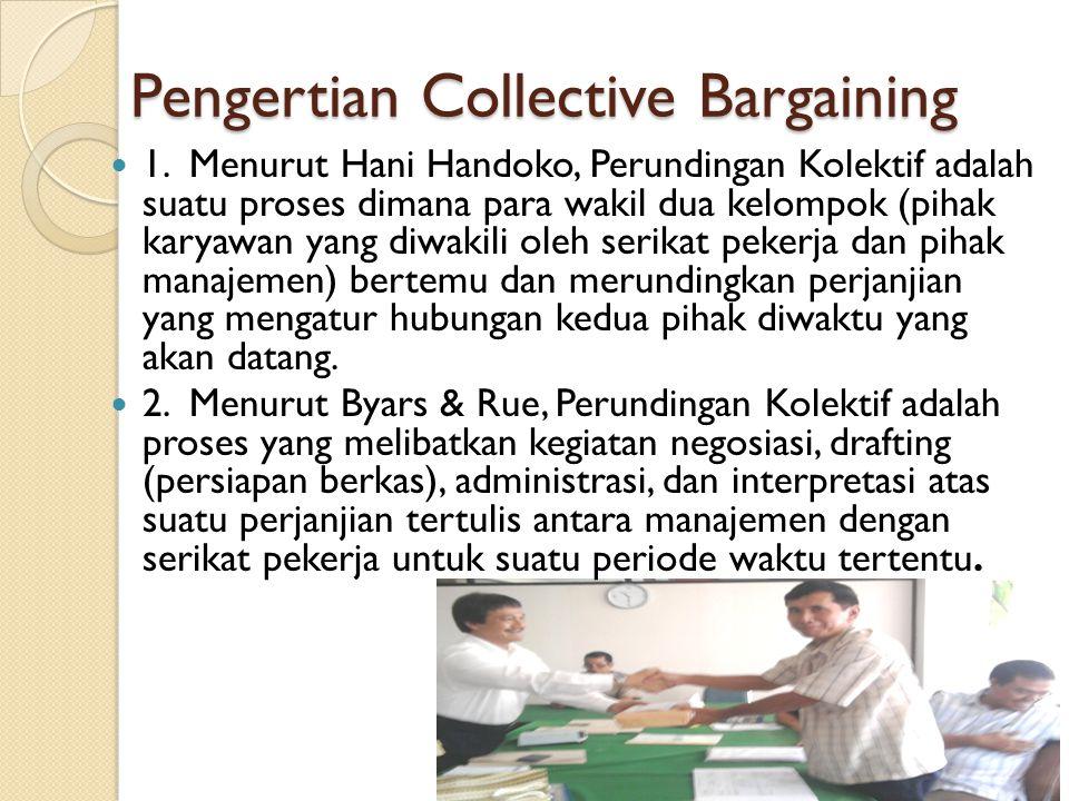 Pengertian Collective Bargaining 1.