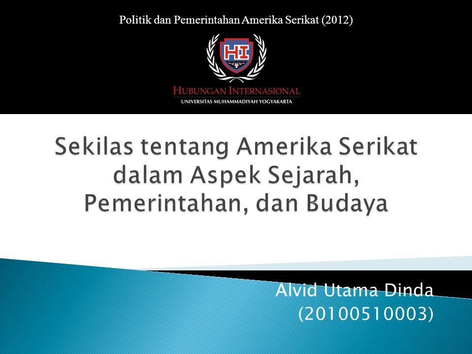 Alvid Utama Dinda (20100510003) Politik dan Pemerintahan Amerika Serikat (2012)