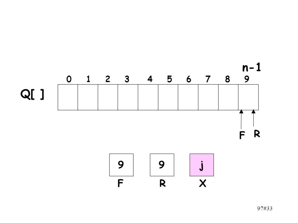 97#33 n-1 0 1 2 3 4 5 6 7 8 9 F R Q[ ] 99 FR j X