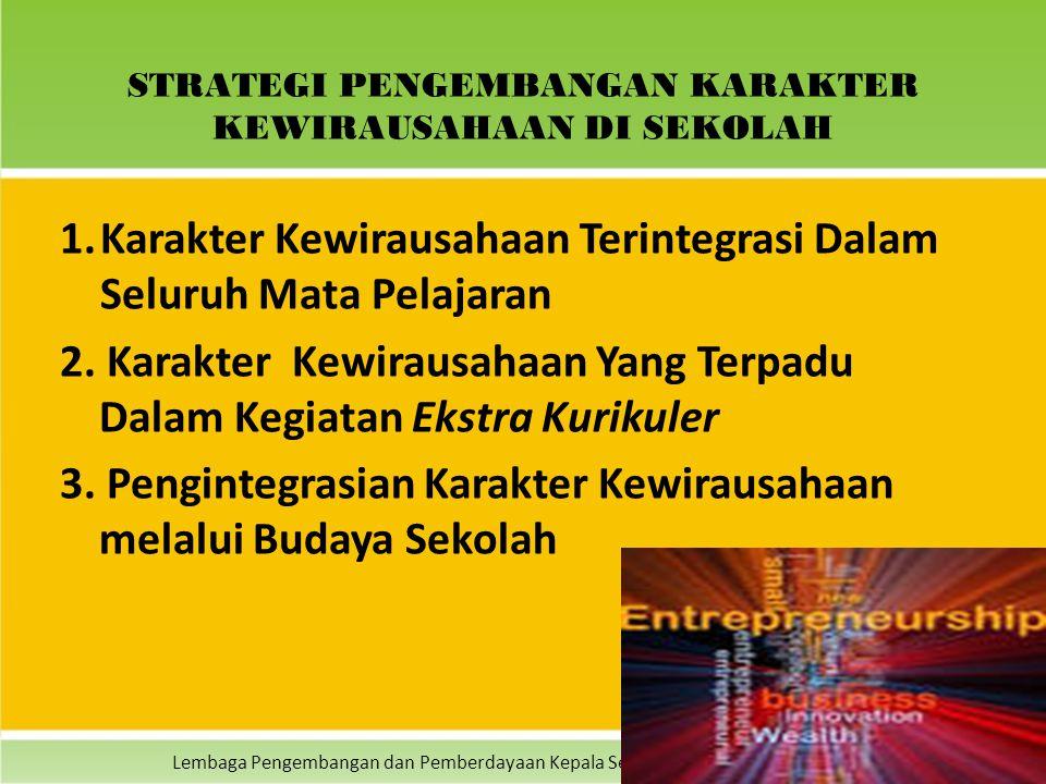Lembaga Pengembangan dan Pemberdayaan Kepala Sekolah (LPPKS) Indonesia - 2014 STRATEGI PENGEMBANGAN KARAKTER KEWIRAUSAHAAN DI SEKOLAH 1.Karakter Kewir