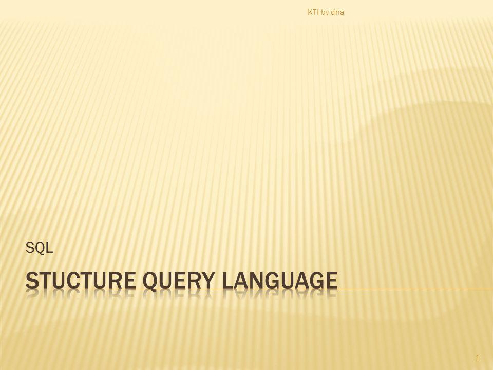 SQL 1 KTI by dna