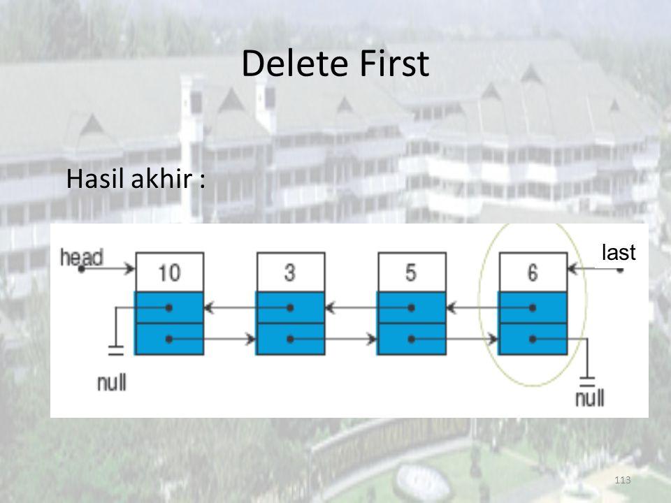 112 Delete First last