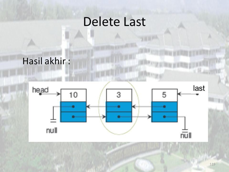 118 Delete Last last