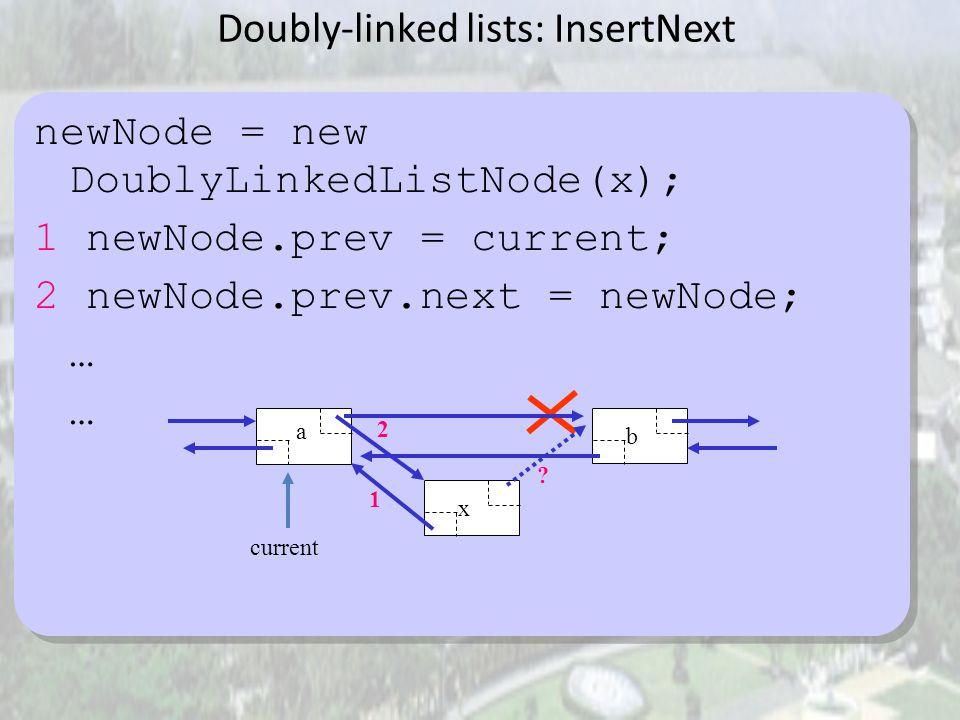Variasi Linked Lists Circular-linked lists: Node terakhir menyimpan referensi node pertama. Dapat diterapkan dengan atau tanpa header node. ABC first