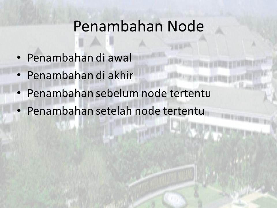 Penambahan Node