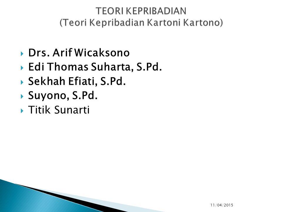  Drs. Arif Wicaksono  Edi Thomas Suharta, S.Pd.