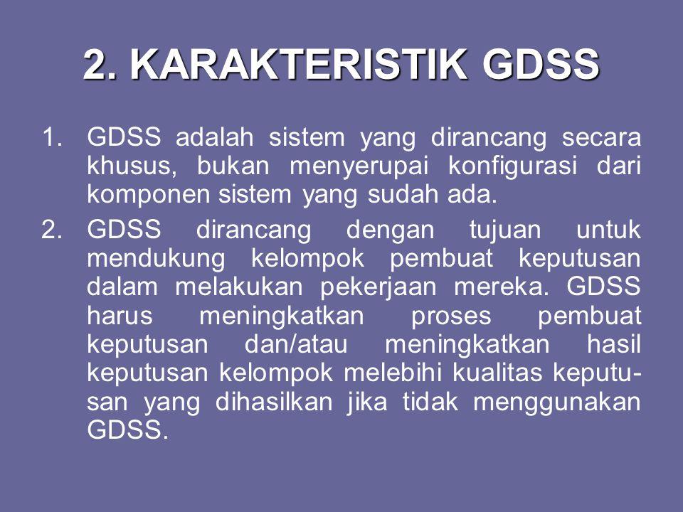3.GDSS mudah dipelajari dan mudah digu- nakan.