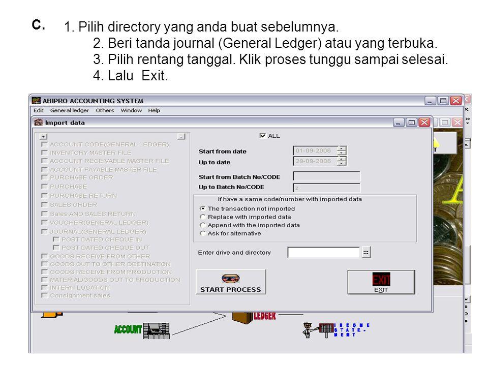 1.Pilih directory yang anda buat sebelumnya. 2.