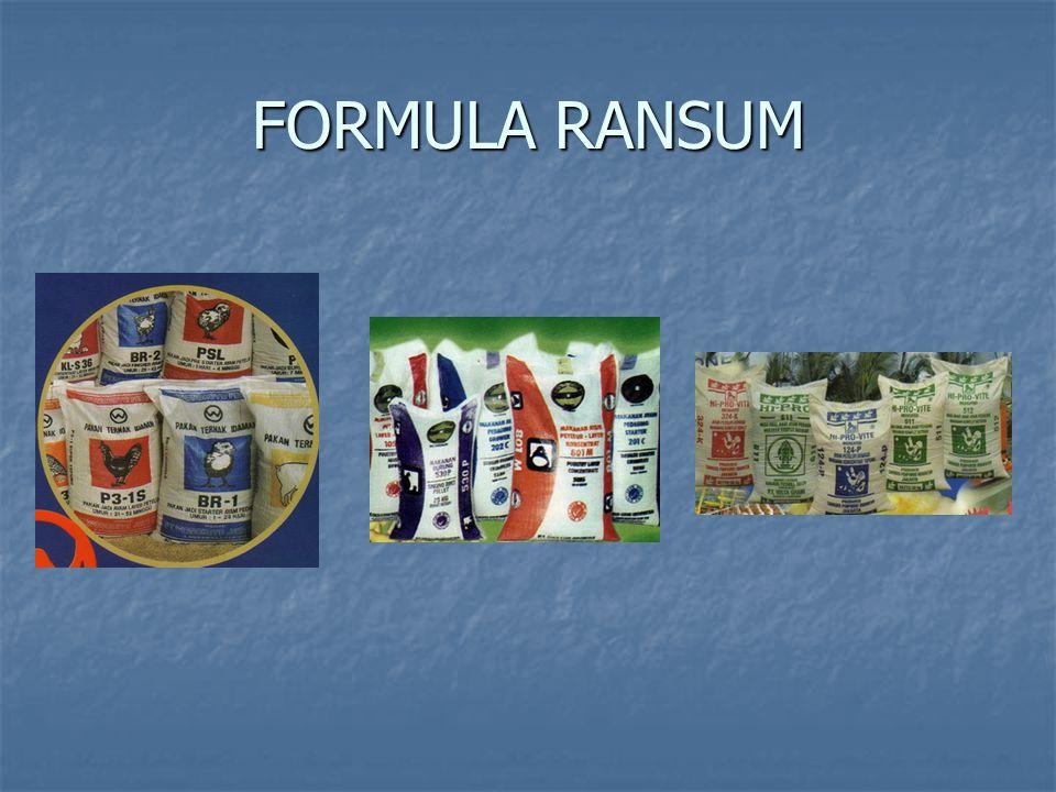 FORMULA RANSUM