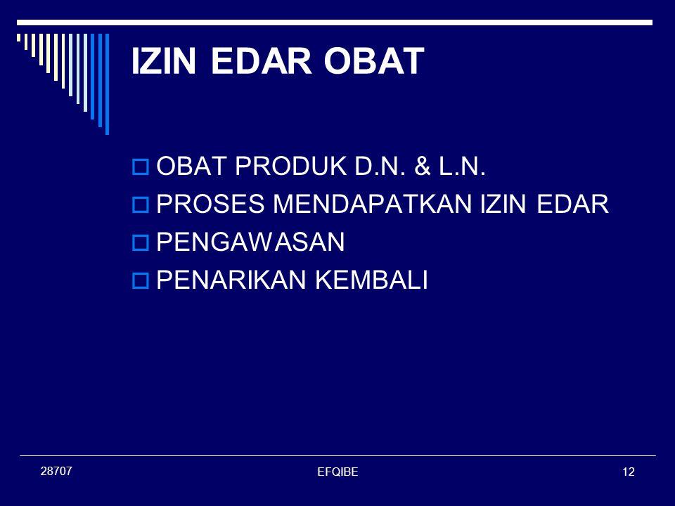 EFQIBE12 28707 IZIN EDAR OBAT  OBAT PRODUK D.N. & L.N.