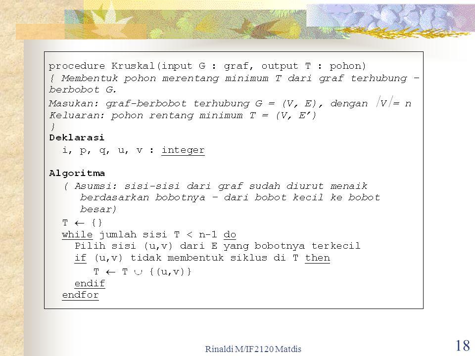 Rinaldi M/IF2120 Matdis 18