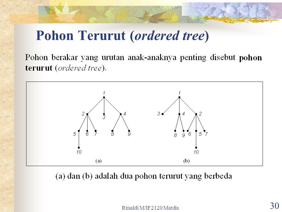 Rinaldi M/IF2120 Matdis 30 Pohon Terurut (ordered tree)