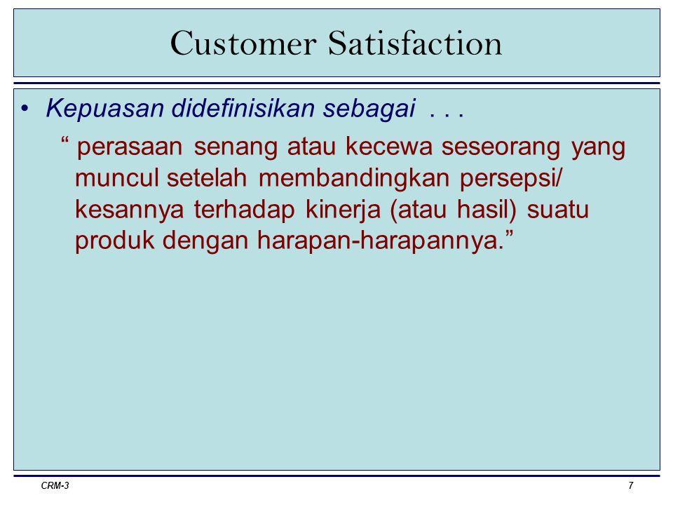 CRM-38 Customer Satisfaction Untuk memaksimalkan kepuasan...