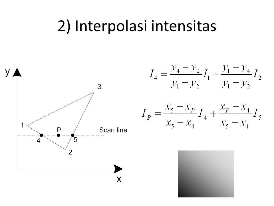 2) Interpolasi intensitas
