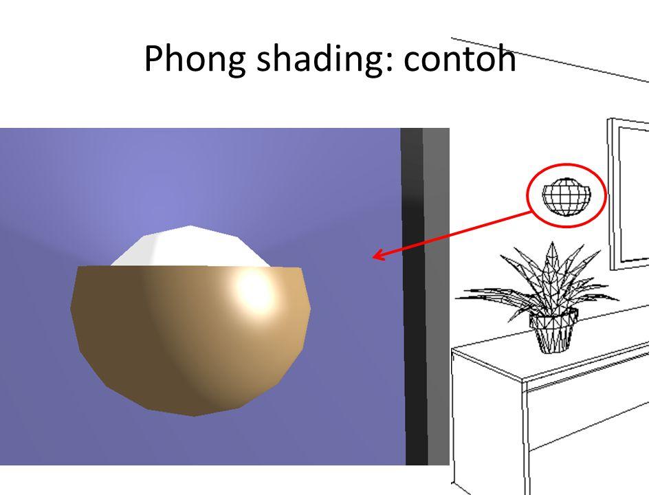 Phong shading: contoh