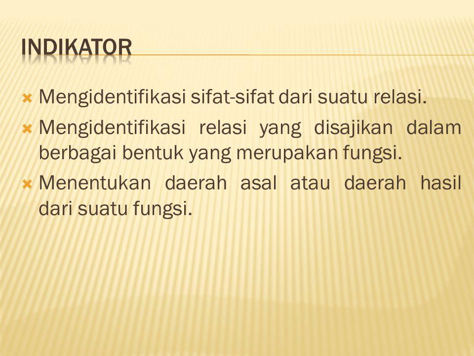  Mengidentifikasi sifat-sifat dari suatu relasi.