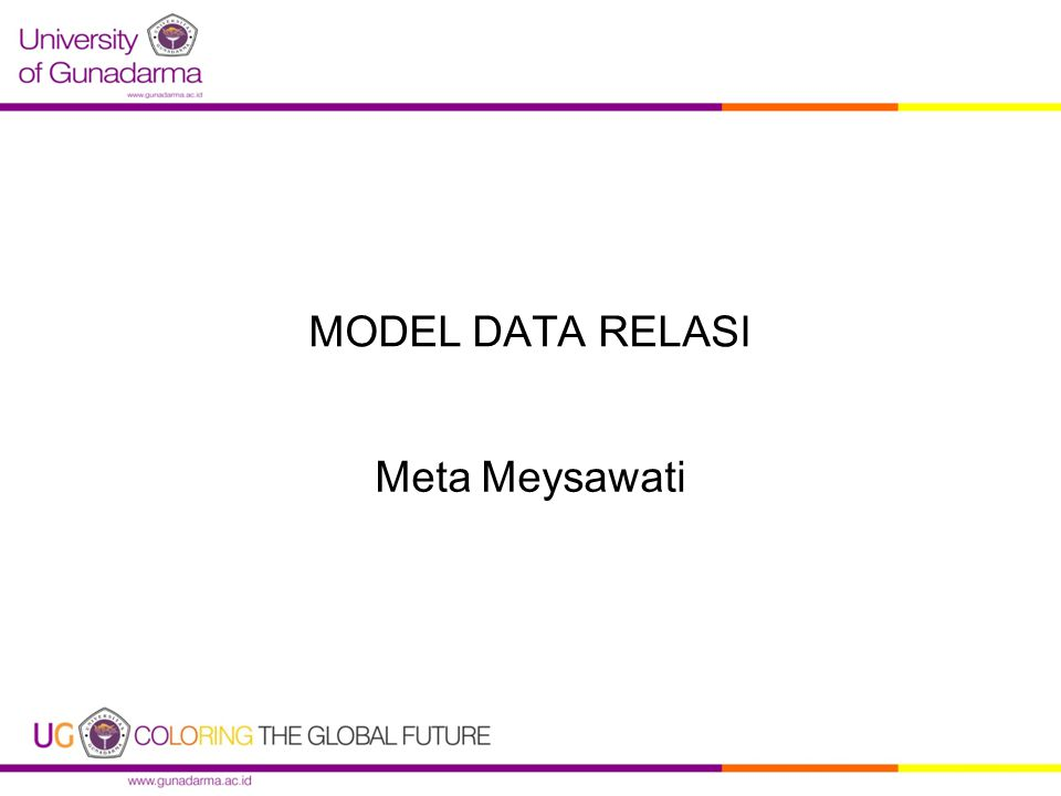 MODEL DATA RELASI Meta Meysawati