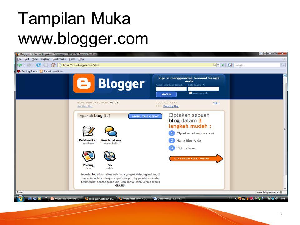 Tampilan Muka www.blogger.com 7