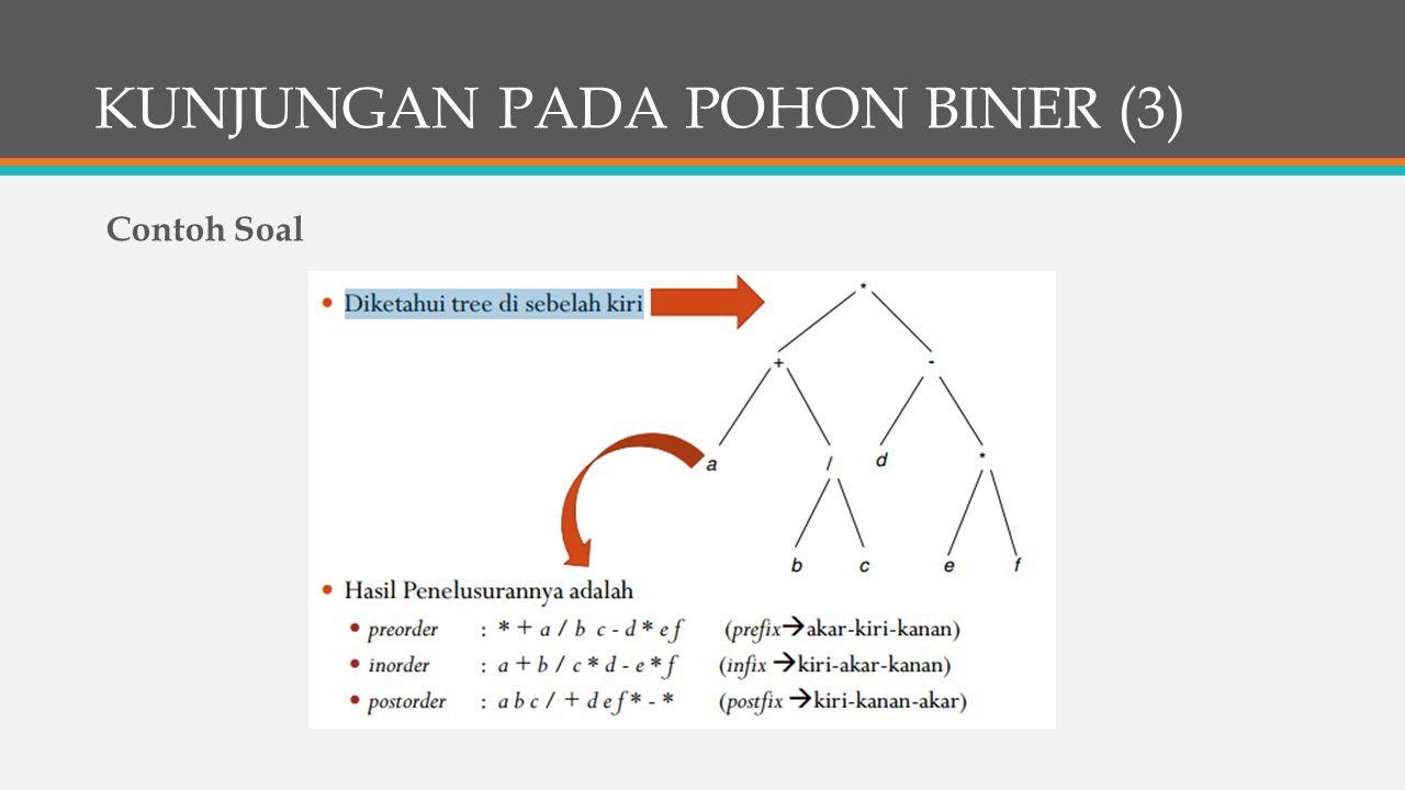 KUNJUNGAN PADA POHON BINER (3) Contoh Soal