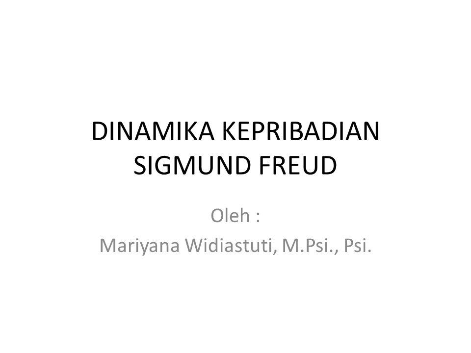 DINAMIKA KEPRIBADIAN SIGMUND FREUD Oleh : Mariyana Widiastuti, M.Psi., Psi.