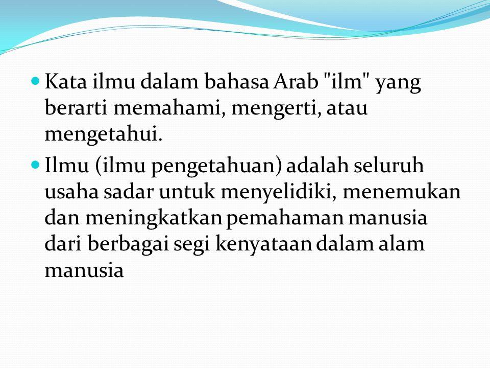 Kata ilmu dalam bahasa Arab