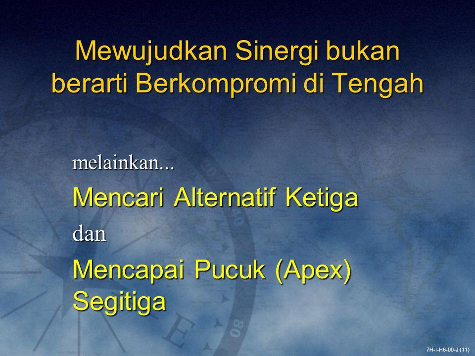 Mewujudkan Sinergi bukan berarti Berkompromi di Tengah melainkan... Mencari Alternatif Ketiga dan Mencapai Pucuk (Apex) Segitiga 7H-I-H6-00-J (11)