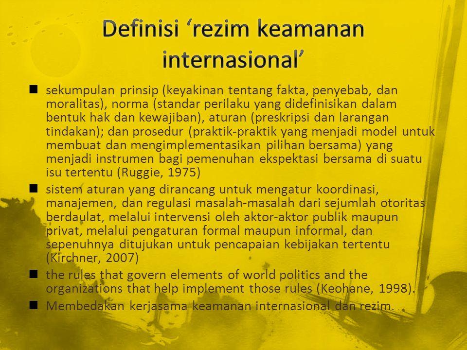 Rezim harus menjadi wujud kelembagaan (embodiment) dari kepentingan kolektif negara-negara anggota.
