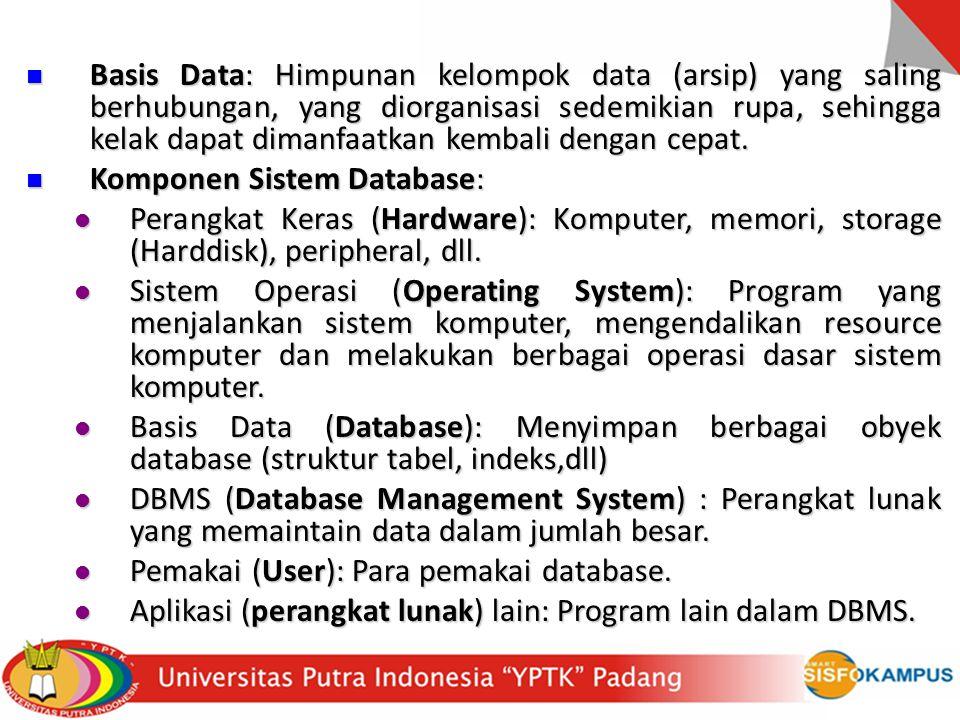 Bahasa database, dibagi dalam 2 bentuk: Bahasa database, dibagi dalam 2 bentuk: Data Definition Language (DDL).