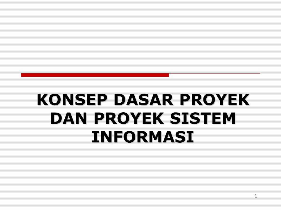 KONSEP DASAR PROYEK DAN PROYEK SISTEM INFORMASI 1