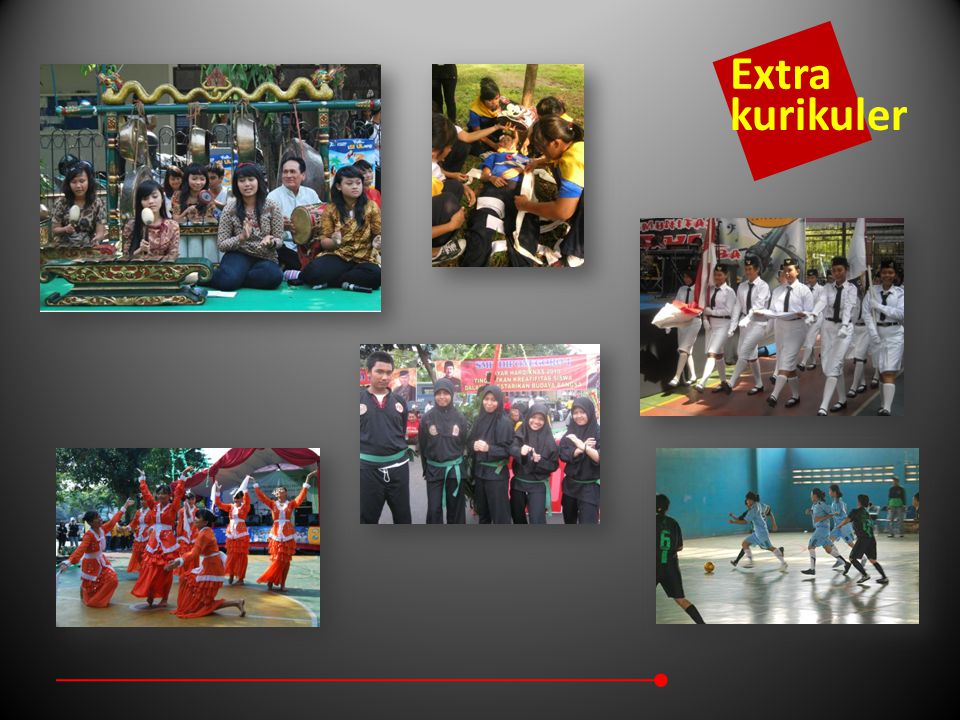 Students Achievement in Competitions 1 st Winner : Quiz Contest (DKI Level), UNJ (2010) Favorite Winner : Marawis Festival, IPMI (2010) The Best Parade Commander Performance in Paskibra Competetition, SMKN 26 (2009) 1 st Winner : Graphic Design Competition at Columbus College Jakarta (2010) 1 st Winner : Paskibra, Gedoeng Joeang 45, 2010 2 nd Winner : Jayabaya University Futsal Competition, 2010 3 rd Winner : Basket Ball Competition, Muhammadiyah (2009) Non-Academic 2 nd Winner : Paskibra Competition, SMKN 26 (2009)