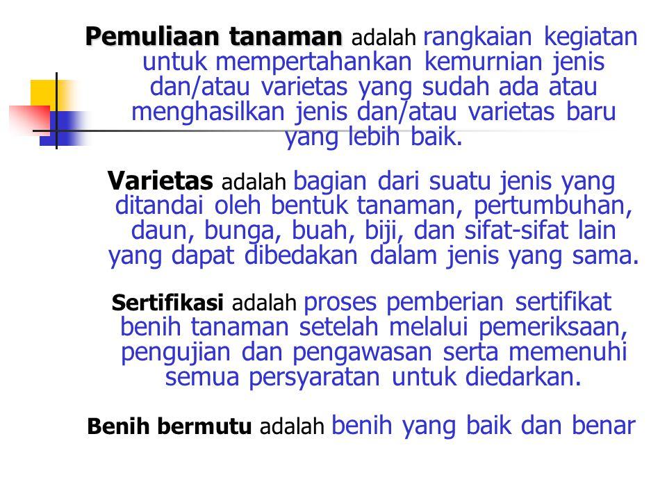 UU RI No.12 tahun 1992 tentang Sistem Budidaya Tanaman dan PP No.