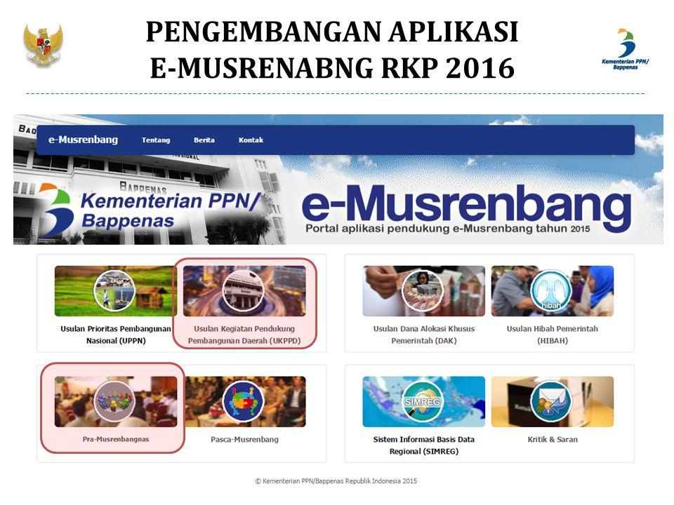 PENGEMBANGAN APLIKASI E-MUSRENABNG RKP 2016