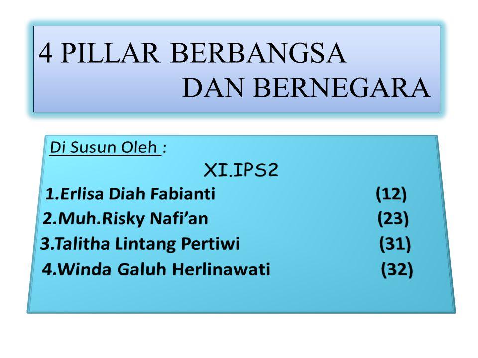 TEMA Pembangunan Harus Didasarkan Pada 4 Pillar Indonesia
