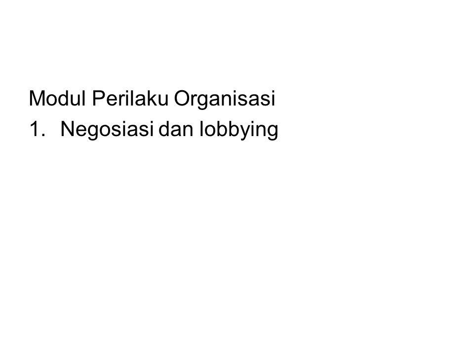 Modul Perilaku Organisasi 1.Negosiasi dan lobbying