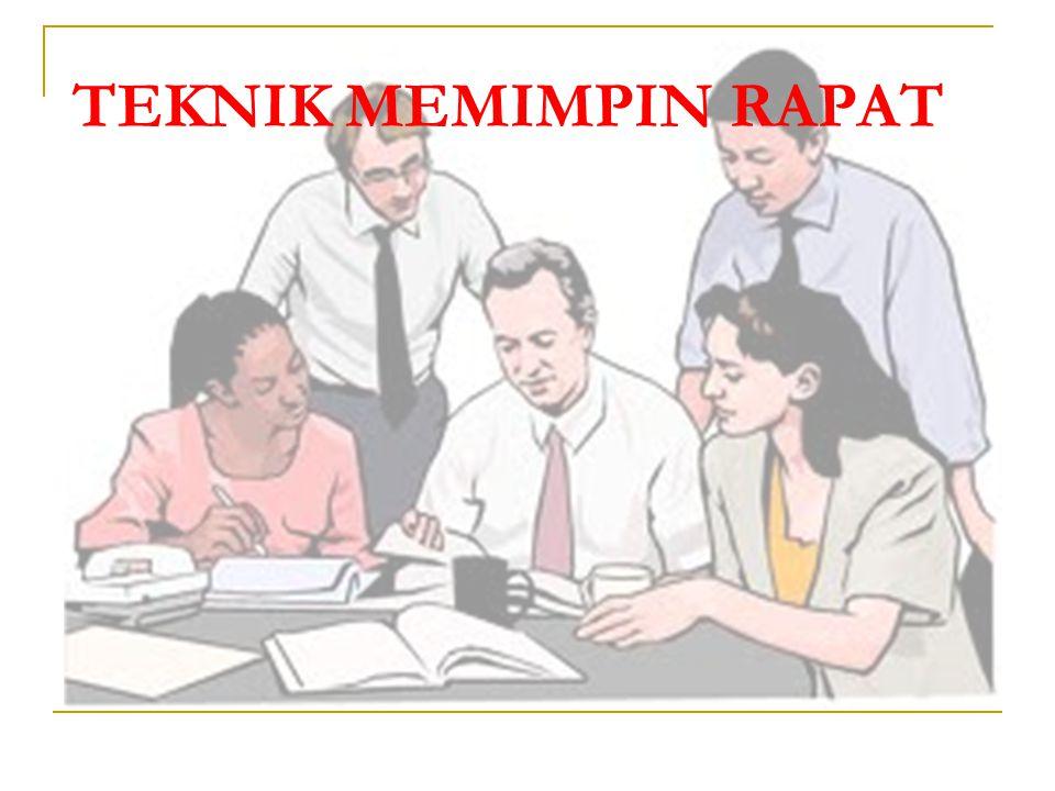 TEKNIK MEMIMPIN RAPAT
