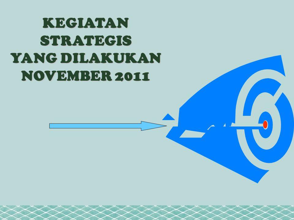 KEGIATAN STRATEGIS YANG DILAKUKAN NOVEMBER 2011